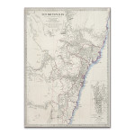 Sydney Antique Map Wall Art Print
