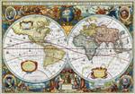 Vintage Global Map Wall Art Print