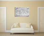 Vintage World Map Wall Art Print on the wall