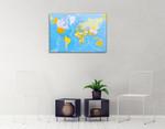 World Global Map Wall Art Print on the wall