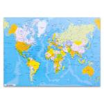 World Global Map Wall Art Print