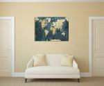 World Map Wall Art Print on the wall