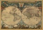 World Vintage Map Wall Art Print