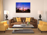Eiffel Tower Sunset Wall Art Print on the wall