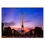 Eiffel Tower Sunset Wall Art Print