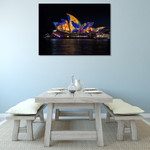 Lighting of Sydney Opera Wall Print on the wall
