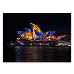 Lighting of Sydney Opera Wall Print