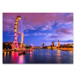 London Eye at Twilight Wall Art Print