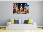 New York City Time Square Wall Art Print on the wall