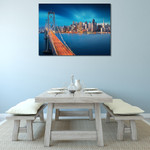 San Francisco Bay Bridge Wall Print on the wall