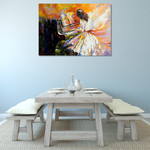 Girl Playing on the Piano Wall Print on the wall