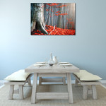 Autumn Fallen Leaves Wall Print on the wall