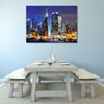 Hudson River New York City Wall Print on the wall