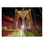 Brooklyn Bridge at Night Wall Print