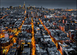 New York City at Night Wall Print