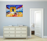 Arc De Triomphe at Paris Wall Print on the wall
