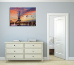 Eiffel Tower at Sunrise Wall Print on the wall