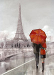 Modern Couple In Paris Wall Print