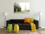 River Seine Eiffel Tower Wall Print on the wall