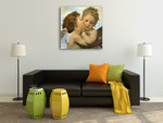 Angels and Cupids Wall Art Print on the wall