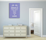 Angels Love Wall Art Print on the wall