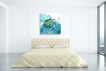 Delray Sea Turtle I Wall Art Print on the wall