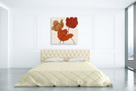 Austin's Tulips I Wall Art Print on the wall