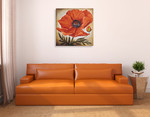 Poppy I Wall Art Print on the wall