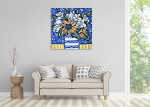 Brooke Howie | Sunflowers and White Roses on the wall