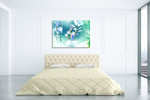 Beautiful Flower Wall Art Print on the wall