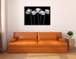 Tulips at Night Wall Art Print on the wall