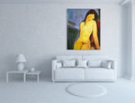 Unclad on the wall