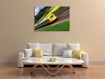 Fast Moving Train I Wall Print on the wall