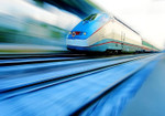 Fast Moving Train II Wall Print