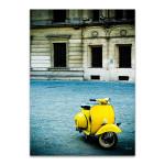 Italy Yellow Vespa Wall Print
