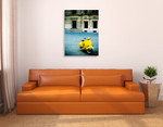 Italy Yellow Vespa Wall Print on the wall