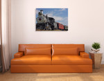 Old Steam Train Wall Art Print on the wall