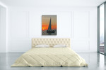 Sailboat on Sunset Wall Art Print on the wall