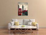 London Red Telephone Box Print on the wall