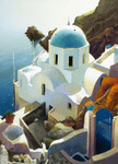 Postmark Santorini Wall Art Print