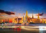 Wat Phra Kaew Thailand Wall Print
