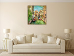 Venice Canal Wall Art Print on the wall