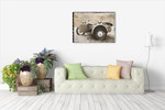 Ural Motorcycle II Wall Art Print on the wall