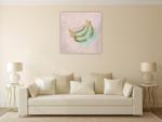 A Banana Wall Art Print on the wall