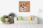 A Croissant Wall Art Print on the wall