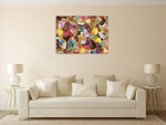 Ice Cream Collage Wall Art Print on the wall