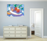 The Oranges Wall Art Print on the wall