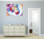 The Red Apples Wall Art Print on the wall