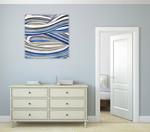 The Blue Swirls I Wall Art Print on the wall