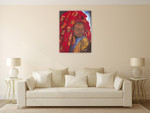The Lady from Hareer II Wall Art Print on the wall